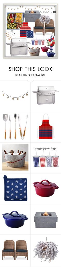 """""""BBQ"""" by lashumphreys ❤ liked on Polyvore featuring interior, interiors, interior design, home, home decor, interior decorating, Schmidt Brothers, Kess InHouse, Crate and Barrel and Sur La Table"""