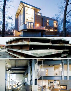 The house on the top is so GORG!  Love the modern feel with all the windows!