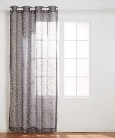 Look at this Gray Medallion Lace Grommet Panel on #zulily today!