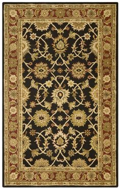 PT19, Black, Hand Tufted, St. Croix Clearance, Kashan available from rugsdoneright.com