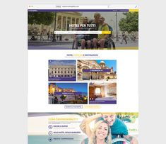 Portale di Booking on line di hotel e b&b adatti ad ospitare persone disabili Hotel, Web Design, Baseball Cards, Travel, Tourism, Design Web, Viajes, Destinations, Traveling