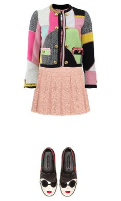 """""""Quirky Tweed"""" by starlings-closet ❤ liked on Polyvore featuring DKNY, Moschino, Alice + Olivia, women's clothing, women, female, woman, misses, juniors and trendytweed"""