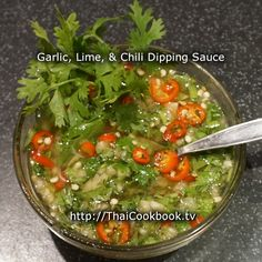How to Make Garlic, Lime, and Chili Dipping Sauce
