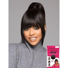High Bun With Bang Black Hairstyles Bun Hairstyles