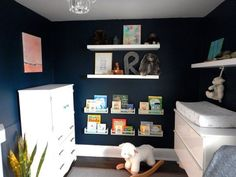 """The """"Blank to Brilliant Navy Blue"""" Baby Room Makeover — Makeover"""