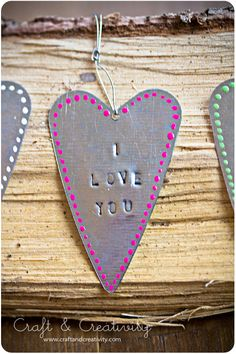 Sweet, metal hearts. For mothersday, fathersday or valentine.