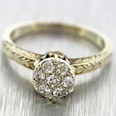 1930's Art Deco Solid 14k White Gold .31ctw Diamond by shopccj, $399.00