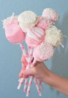 Marshmallow Pops - Adorable First Birthday Party Ideas - Photos