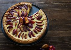 Zwetschgen Vanille Tarte - It's pretty nice Quiche, Plum Tart, Custard Tart, Vanilla Custard, Cake & Co, Pretty Cakes, Cakes And More, No Bake Desserts, Yummy Cakes