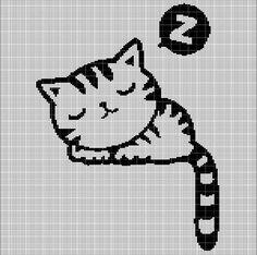 SLEEPING+CAT+CROCHET+AFGHAN+PATTERN+GRAPH