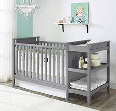 Dorel Asia Emma 2-in-1 Crib and Changing Table Combo, Gray  http://www.babystoreshop.com/dorel-asia-emma-2-in-1-crib-and-changing-table-combo-gray-2/