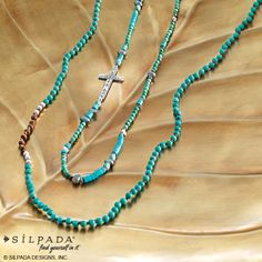 You can never go wrong with turquoise!  Check out the new cross necklace!  Love it!