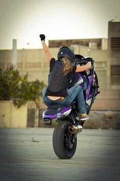 Leah Peterson: The best female stunt rider.  Pretty purple bike!!