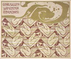 Danube waves, 1901 by Koloman Moser. Art Nouveau (Modern). design