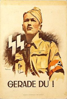 Recruitment poster for the 12th SS panzer Division Hitlerjugend.