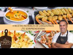 4 Recetas fáciles de langostinos, 4 recetas increíbles - YouTube Chicken Wings, Menu, Youtube, Food, Incredible Recipes, Appetizers, Cooking, Entrees, Spanish Dishes
