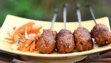Vikram Vij's lamb kebabs with spring salad