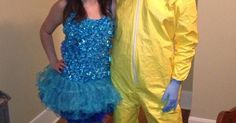 Blue Meth and Walter White Couple's Costume | Breaking Bad Costume, Walter O'brien and Breaking Bad