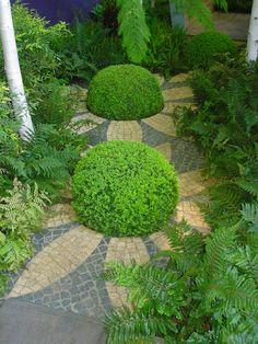 sunflower garden path