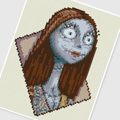 PDF Cross Stitch pattern 0255.Sally (Nightmare before Christmas) by PDFcrossstitch