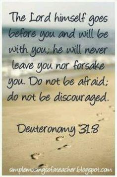 Deut. 31:8