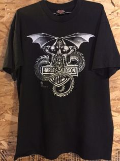 39709393df614 Vintage 1988 Harley Davidson Gargoyle Demon Serpent Dragon Men s size XL  Made in USA. Harley Davidson T Shirts ...