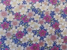 WtW Estate Fabric Kona Bay GEIS-20 Floral Metallic Garden 2012 Flower BTY Quilt