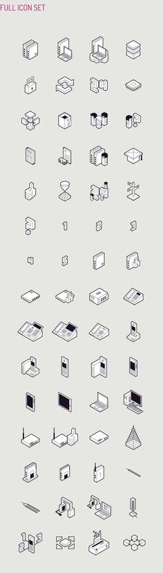 Isometric Icon Design by Perconte for Datera SA