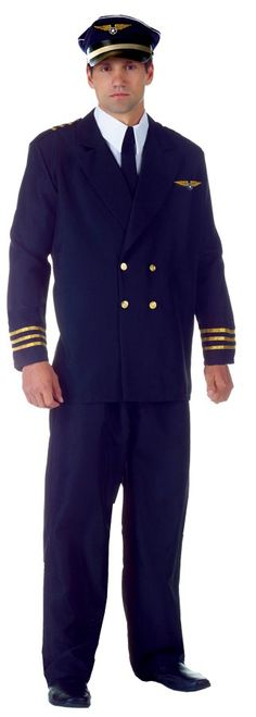 Cool Costumes Airline Captain Adult Plus Costume just added...