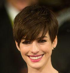 Anne Hathaway - bangs and short hair
