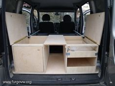 Resultado de imagem para converted mini vans camping
