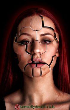 Resultado de imagen para psychiatric patient make up fx Robot Makeup, Sfx Makeup, Visage Halloween, Halloween Makeup, Make Up Gesicht, Face Paint Makeup, Make Up Inspiration, Make Up Art, Special Effects Makeup