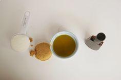 homemade ginger: 4 Ingredient Sugar Scrub