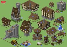 This is a sneak preview of what I'm preparing right now ... a Layer-by-Layer booklet covering all buildings needed to create a medieval village on Minecraft. No castle. That building will be in ano...