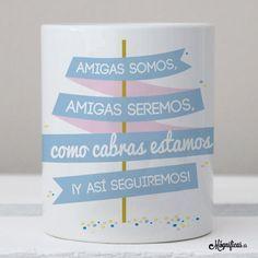www.mugnificas.es Tazas para regalar. Diseños originales. Frases con diseño. Taza Amigas Cabras.