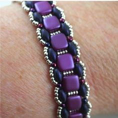Toying with tiles Purple  Bracelet by ChainedByLightness on Etsy, $30.00