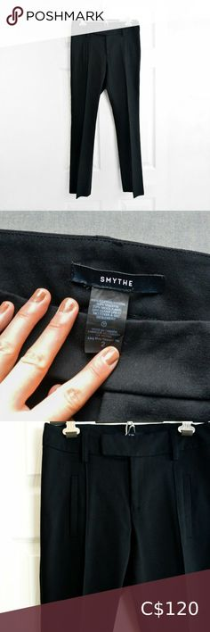 """Smythe Womens Mid Rise Wool Dress Pants Size: 2 Excellent condition Smythe 45% cotton / 33% viscose / 22% wool 28"""" Waist - Across the waistband, doubled. 9"""" Rise - Crotch seam to the top of the waistband. 28"""" Inseam - Crotch seam to the end of the pant leg. 32"""" Hips - Widest part of the pants, where the hips would be, doubled. Smythe Pants & Jumpsuits Trousers Bathing Suits One Piece, Bathing Suit Top, Strappy Bathing Suit, Pajama Bottoms, Plus Fashion, Fashion Tips, Fashion Trends, Wool Dress, Dress Pants"""