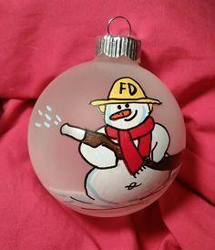 Fireman Ornament - Firefighter Ornament - Personalized Fireman Ornament - Volunteer Fireman Ornament - Firemen Ornaments - Christmas by ShopMetamora on Etsy https://www.etsy.com/listing/249625701/fireman-ornament-firefighter-ornament
