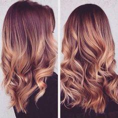balayage + big curls