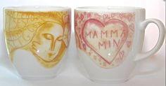 "Bjorg Thorhallsdottir's coffee cup from Porsgrund Porselen. On it is written in norwegian ""Kind, caring, understanding, strong, beautiful, loving, good - the world's best mom."" bjorgt.no / lykkehaven.no Swedish Style, Best Mom, Danish, Coffee Cups, Strong, Mugs, Beautiful, Coffee Mugs, Tumblers"
