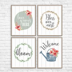 5 Printable Spring Wall Art Farmhouse Style Prints - Fun Loving Families Start looking ahead to Spring with some fresh wall art. Today, I'm sharing 5 printable Spring wall art farmhouse style p. Farmhouse Style, Farmhouse Decor, Farmhouse Design, Spring Crafts, Printable Wall Art, Crafts For Kids, Wall Decor, Fun Loving, Families