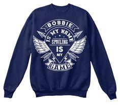 Bobbie Spoiling Game, Bobbie T Shirt!!! Navy  T-Shirt Front