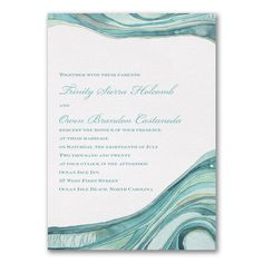40% Off Wedding Invitations and Save the Dates  |  Ocean - Invitation