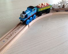 Personalised Brio wooden train track from woodpeckers.