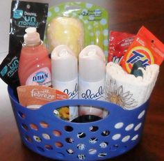 gift basket. any homeowner would love and need