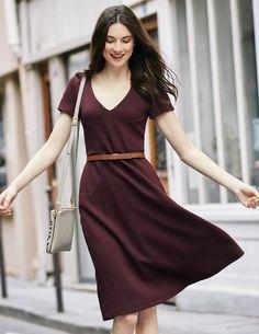Melanie Jersey Dress WW155 Smart Day at Boden