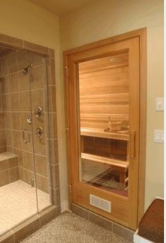 How to build a home sauna how to diy network my for Master bathroom with sauna