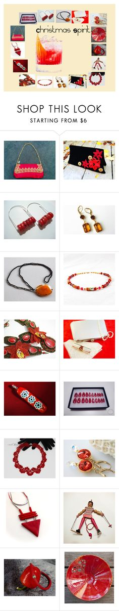 Christmas Spirit: Holiday Gifts in Red by paulinemcewen on Polyvore featuring vintage