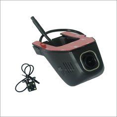 For mitsubishi pajero sport 2 4 Car Wifi DVR Driving Video Recorder hidden type Novatek 96655 WDR Dual lens Car Black Box