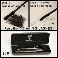 Younique lash mascara fiber green tea beauty make up 3d Fiber Mascara, 3d Fiber Lashes, 3d Fiber Lash Mascara, Mascara Tips, How To Apply Mascara, Mascara Younique, Applying Mascara, Best Lashes, Fake Lashes